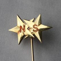 Nål fra Norsk Styrmannsforening (sannsynligvis for 25 års medlemskap siden nålen er i gull (585)