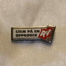 Valgmerke fra Rød Valgallianse RV. RV er i dag en del av partiet Rødt!