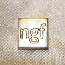 Norsk Grafisk Forbund merke for 25 års medlemskap i sølv.