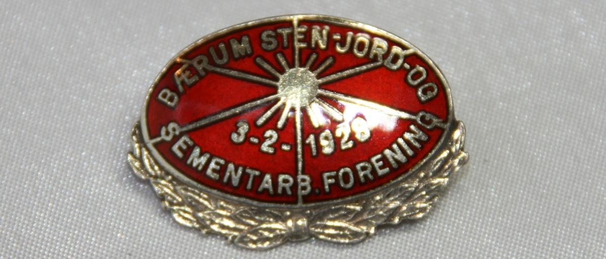Bærum Stein jord og sementarbeiderforening m/krans