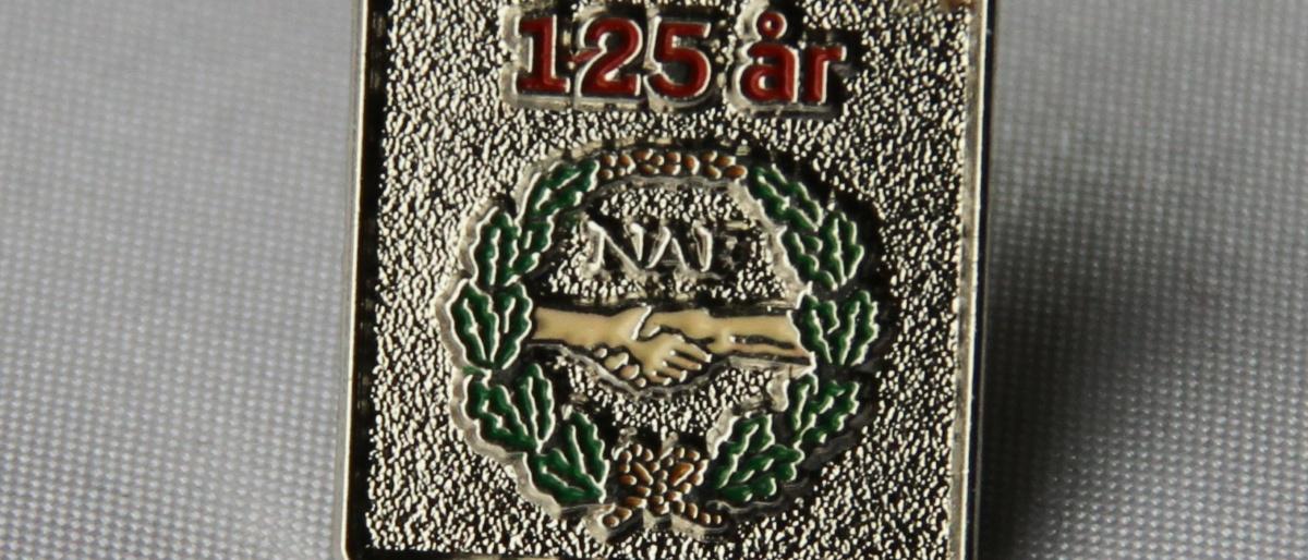 Norsk Arbeidsmannsforbund 125 års jubileumsmerke fra 2020